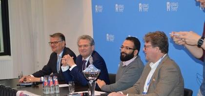 De jury: Jan Hofman, Roelof Bisschop, Jamal Mouhmouh, Wilfried Verboom
