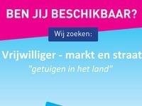 Vrijwilliger markt en straat